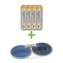 Kalibrier-Scheiben-Set mit Batterie Typ AAA, 1,5 V