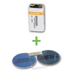 Kalibrier-Scheiben-Set mit Alkalibatterie, 9 V