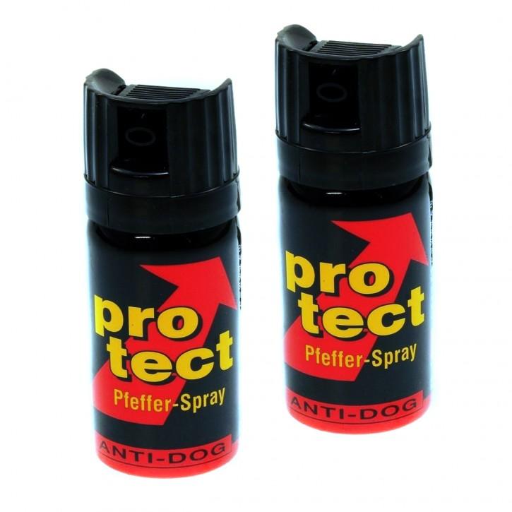 Abwehrspray als Tierabwehrspray Protect Pfeffer Breitstrahl, 2 Stück