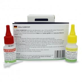 Universal Klebstoff MIDIAR zum Kleben von Vielem Set: 20g Kleber+20g Granulat